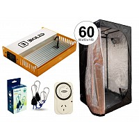 INDOOR CULTIVO LED BIOLED RG55I COMPLETO CARPA BELLAVITA 60  NEGRO