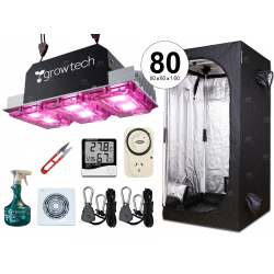 Combo completo Growtech 300w LED carpa 80 accesorios