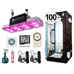 COMBO COMPLETO GROWTECH 400W LED CARPA CULTIVARG ACCESORIOS