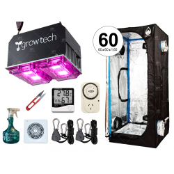 COMBO COMPLETO GROWTECH 200W LED CARPA CULTIVARG ACCESORIOS