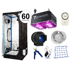 Combo Cultivarg carpa 60 accesorios LED 200w Growtech indoor