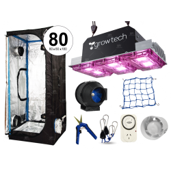 Combo Cultivarg carpa 80 accesorios LED 300w Growtech indoor