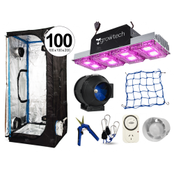 Combo Cultivarg carpa 100 accesorios LED 400w Growtech indoor