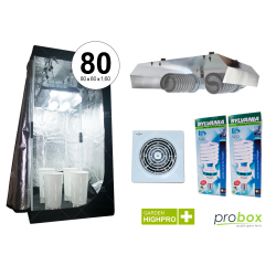 Combo Kit indoor carpa Probox - Doble bajo consumo 210w fría - Ventilación