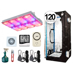 COMBO COMPLETO GROWTECH 180W CREE LED CARPA CULTIVARG 120 ACCESORIOS