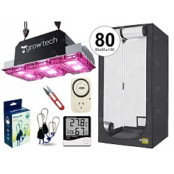 INDOOR KIT CULTIVO LED GROWTECH 300W CARPA GARDEN ECOPRO 80  NEGRO